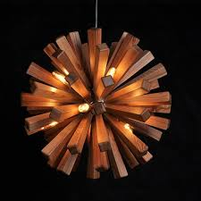 modern ash wood pendant lamp interior ...