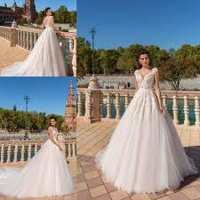 Discount 2017 New Crystal Design Elegant A Line Wedding Dresses