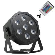 <b>Wireless</b> remote control LED Mini PAR light <b>7X12W</b> DMX rgbw 4in1