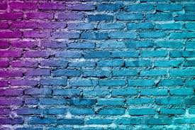 colorful painted brick wall texture