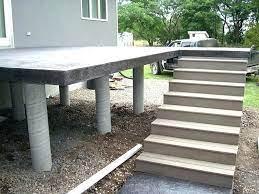 raised concrete deck elevated concrete