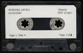 Myra Powers oral history (copy 2, tape 1 of 3)