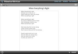 masterwriter insync turn to the songwriting resource the pros use masterwriter contains a complete suite of songwriting tools including a rhyming dictionary and databases of