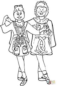 Small Picture Irish Dance Art Coloring Page Art Culture Print Dancing