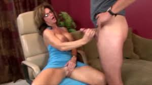 Older woman giving handjob
