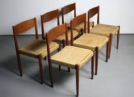 Mid Century Modern Dining Chairs Vintage For Sale Set Danish Teak