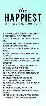Wedding Song Playlist Modern Wedding Song List