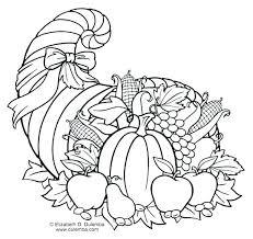 Free Cornucopia Coloring Page Thanksgiving Printable Pages Colorin