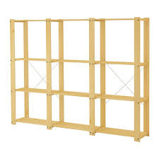 10 easy pieces budget friendly unfinished wood furniture gardenista ikea ivar pine wood wooden shelving