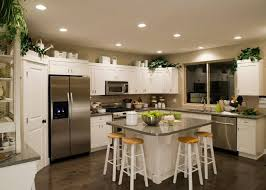 Kitchens with white cabinets and green walls Warm Choosing Counter Tops To Complement Both The Appliances And The Beautiful Wood Floor Gives This Kitchen Govilooco 36 Inspiring Kitchens With White Cabinets And Dark Granite pictures
