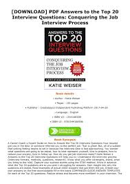 Top 20 Interview Questions Denisse Download Pdf Answers To The Top 20 Interview