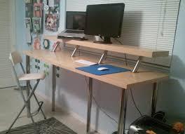 Wide Standing Desk. Image credit: Martina, IKEA Hackers.