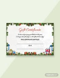 Sample Certificate Templates 53 Free Gift Certificate Templates Download Ready Made Template Net
