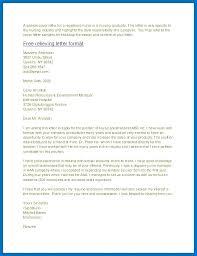 Cover Letters For Nursing Cover Letter Nursing New Grad Sample Cover