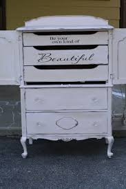 Primitive & Proper: Champagne and Gold Girls Dresser; nice message on the  inside. Old DressersPainted ...