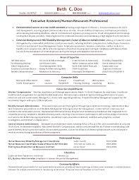 Resume Template Human Resources Executive