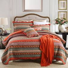 newlake striped classical cotton 3 piece patchwork bedspread quilt sets queen