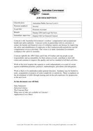 Fillable Online Job Description Classification Australian
