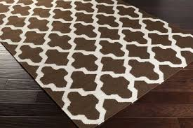 surprising white and brown rug area rugs designs