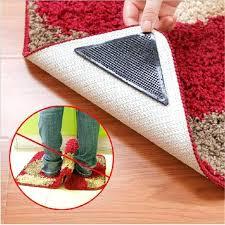 4pcs set non slip ruggies rug carpet mat grippers anti skid corners non skid rugs non