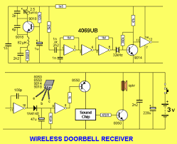 circuit project wireless doorbell eeweb community the first stage is actually a 303mhz oscillator that is operating all the time it produces a clean 303mhz signal and this frequency is too high to be