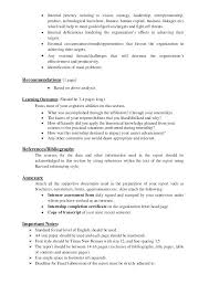 Finance Internship Resume Objective Internship Report Format Finance ...
