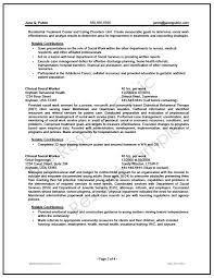 Federal Social Worker Resume Writer Sample The Resume Clinic