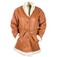 women s leather and wool coat