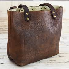 grassfed leather tote dark brown
