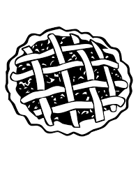 Small Picture Pie Coloring Page