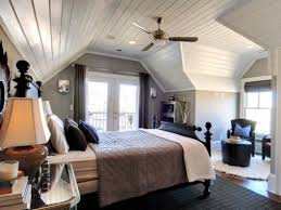 bedroom with slanted ceilings decoration