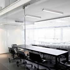 commercial light fixtures in an office