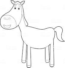 Facile Animali Da Colorare Per I Bambini Cavallo Immagini