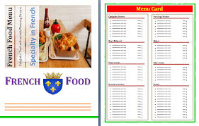 french menu template free french menu template free word templates