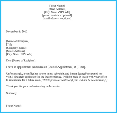 Reschedule Appointment Letter Samples - Templates For Microsoft® Word