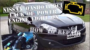 Nissan Qashqai Malfunction Warning Light Red Nissan Qashqai Dci Lack Of Power Engine Management Light On Limp Home How To Repair