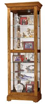 display cabinet 28 x78 x17 in oak wood with sliding glass front door