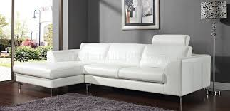 angela sectional sofa in white leather by whiteline