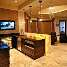 wet bar lighting. contemporary wet bar with sleek wood cabinets u0026 warm lighting