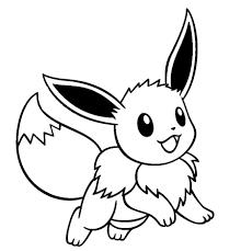 Cute Pokemon Eevee Drawings Sketch Coloring