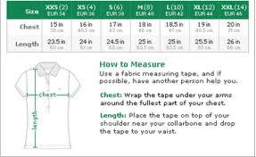 Lacoste Size Chart Jacket Lacoste Size Chart Bedowntowndaytona Com