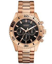 guess watch mens chronograph rose gold tone stainless steel gallery