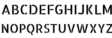 Number Stencil Font Allerta Stencil Font Download Free Fonts Download