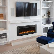napoleon 50 fireplace recess tv above and cover with artwork