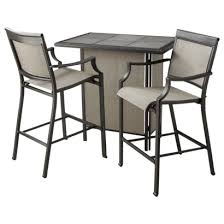 3 piece patio bar set. Delighful Set Threshold Harriet 3Piece Sling Patio Bar Set In 3 Piece B