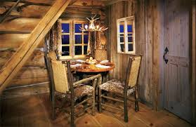 Rustic Cabin Bedroom Decorating Log Wooden Wall Shelf For Wall Living Areas With Candle And Dry