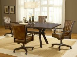 upholstered dining chairs casters dinettes dining room furniture