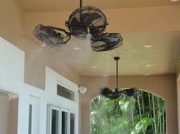 outdoor ceiling fans. Tri-Mist Misting Cooling Celling Fans Outdoor Ceiling