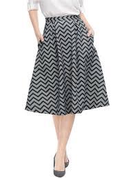 Skirt Patterns With Pockets Amazing Allegra K Women High Waist Pockets ZigZag Pattern Full Midi Skirt
