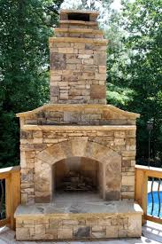 outdoor stone fireplace on wood deck pool heaters outdoor stone fireplaces wood decks and stone fireplaces